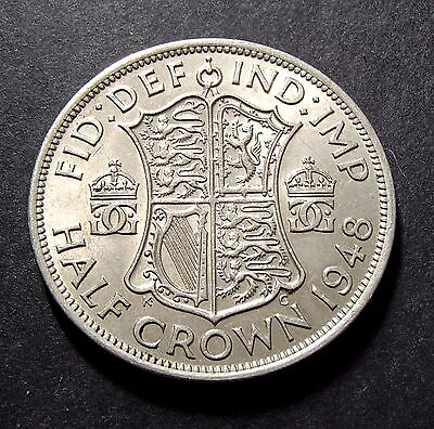 1948 English UK Half Crown - About Uncirculated - George VI - 144