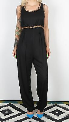 Jumpsuit UK 12 Medium All in one 1980's Vintage  90's (63E)