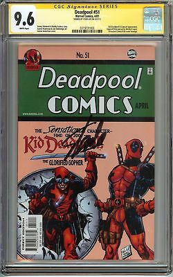 Deadpool #51 CGC 9.6 NM+ SIGNED STAN LEE KID DEADPOOL Marvel Comics PALMIOTTI