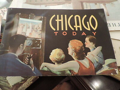 RARE VINTAGE 1933 CHICAGO TODAY BROCHURE CITY HISTORY 62 pp