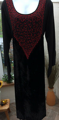 'morticia Style'  Black Long Dress  Size 20