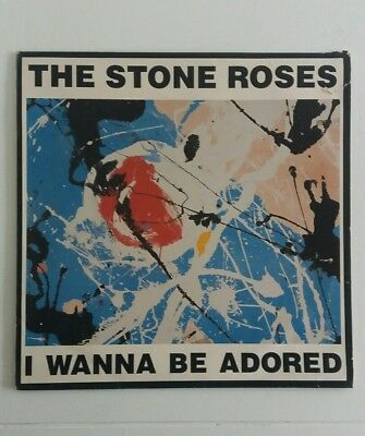 "The Stone Roses ‎– I Wanna Be Adored Silvertone ORE 31 UK 1991 12"" PIC SLEEVE"