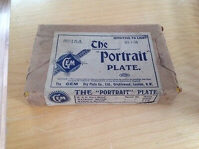 "Unopened Sealed Packet of Vintage Photographic Photo Glass Plates 5.5"" x 3.5"""