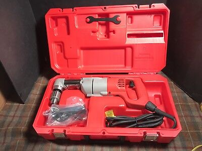 "Milwaukee 1107-1 Corded Right Angle Drill NEW 1/2"" W/ Case"