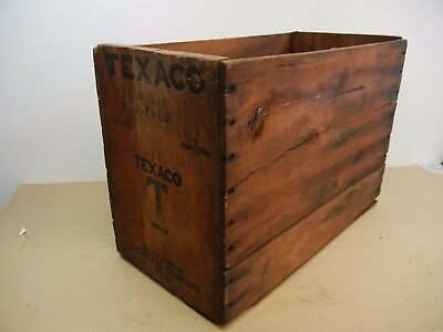 Vintage Wood Beverage Crate/case - Texaco - Manufactured By The Texas Company