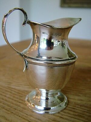 Antique Solid English Silver Chester 1909 Cream Milk Jug Pitcher Blankensee Nr