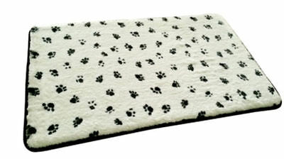 Pooch Products. Soft Touch Memory Foam Dog Pet Mat. Paw Print Design. 50 x 80 cm
