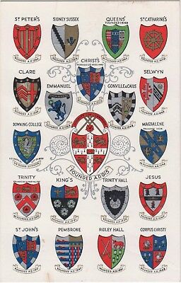 CAMBRIDGE UNIVERSITY/ Coats of arms/ 19 Mens Colleges