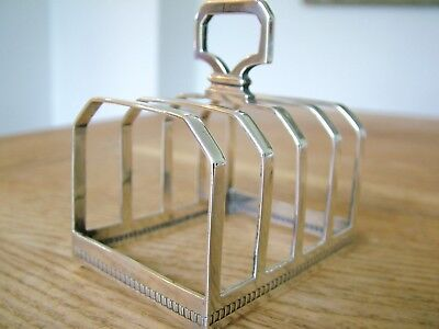 Antique Hm1927 Solid Silver 5 Bar English Toast Rack Mappin & Webb  91G No Res