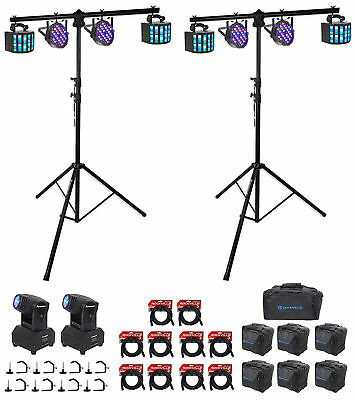 DJ Package 2) Moving Heads+4) Derby+4) Par Lights+2) Stands+10) Cables+8) Clamps