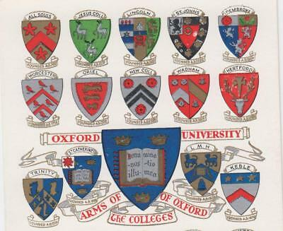 OXFORD UNIVERSITY/ Coats of arms/