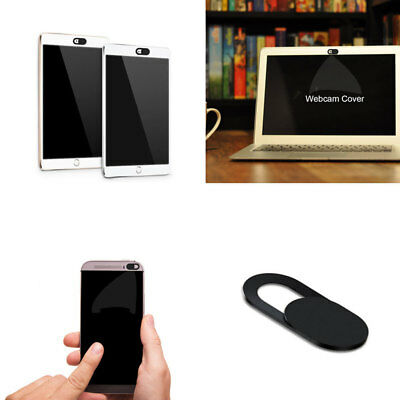 Mobile Phone Laptop PC Webcam Cover Privacy Sticker Anti-Hacker Black Plastic