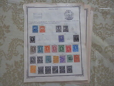 Costa Rica Old Collection 1863-1911 Extra Fine On Page Dr Schultz Estate !!8898C
