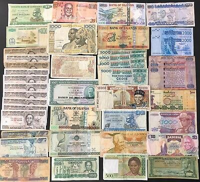 42 Mixed African Banknote Collection - Bulk Lot. (1418)