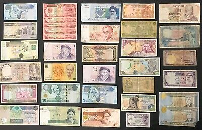 34 Mixed Banknote Collection - Middle East - Bulk Lot. (1364)