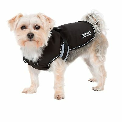 Trespass Trespaws Butch Insulated Softshell Dog Jacket Black Waterproof Pet Coat