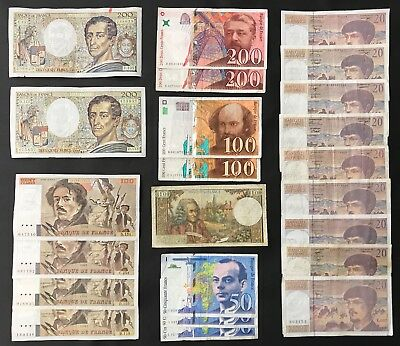 23 Mixed Banknote Collection - France - Europe - Bulk Lot. (1412)