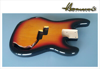 Precision Bass Body, 2 piece Erle Body, Finish 3 tone Sunburst