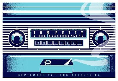 Tom Petty - Tour Poster - Hollywood Bowl LA - Sept 22 - Limited Edition