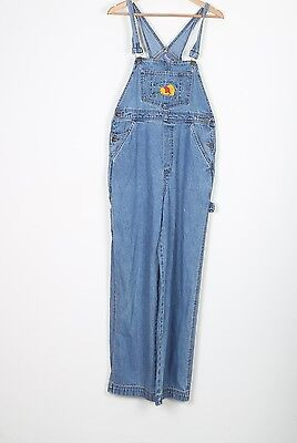 Pooh Denim Dungarees UK 10 Small Fitted   8 XS Oversized Blue (74R)