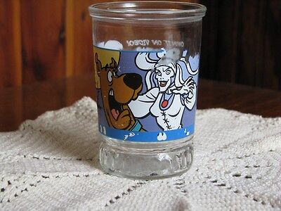 Vintage Collectible Bama Jelly Jar - Scooby Doo & the Witch Glass - Has Flaws