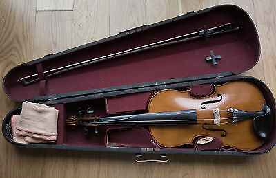 Violin Size 4/4 Full Size +Case+Bow+Rosin and chin rest