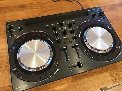 Pioneer DDJ-WEGO3-K DJ Controller. With Apple cables and a Griffin cueing cable