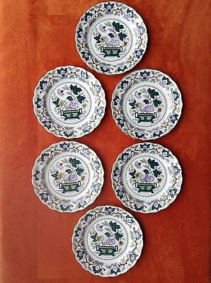 """SIX (6) Booths Beautiful """"Green Lotus"""" 19cm Side Plates"""