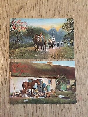 Postcard Working horse by Tucks Country Life