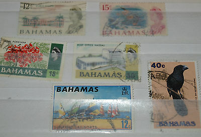 6 bahamas stamps