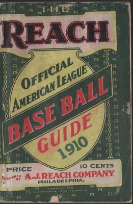 1910 Reach Baseball Guide with covers and good binding