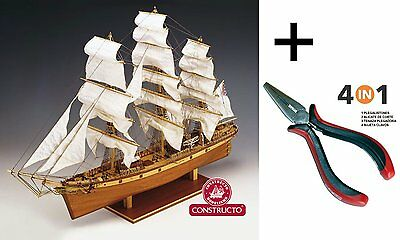 Constructo 80838. Model boat in wood. Cliper Cutty Sark. bus at 1:38 scale 1/115