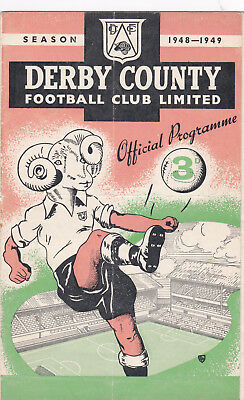 DERBY COUNTY v MANCHESTER CITY 1948/9, DIVISION 1