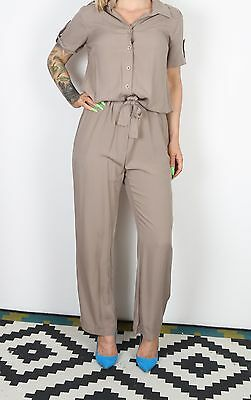 Jumpsuit UK 14 Large  All in one 1990's Vintage  90's (63N)