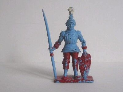 1 x CRESCENT / KELLOGG'S. 1959 MEDIEVAL KNIGHT PLASTIC TOY SOLDIER