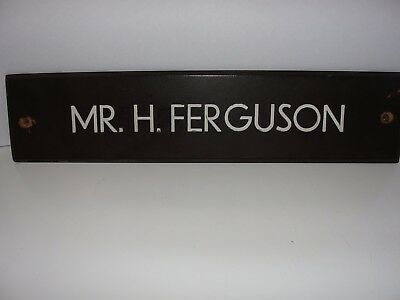 Rare Harry Ferguson Name Plate
