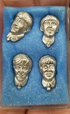 VTG Estate 1964 Official Beatles Pewter Tie Tac Pins Rock N Roll Music!