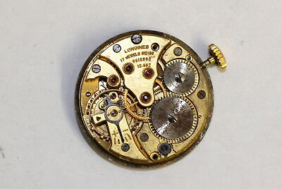 Gents Wrist Watch Movement.  LONGINES Cal 12.68z.   Retro Antique Vintage