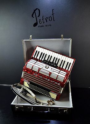 RARE TOP ACCORDION WELTMEISTER AMIGO 80bass+Case~NEWLY CONDITION~Made in GERMANY