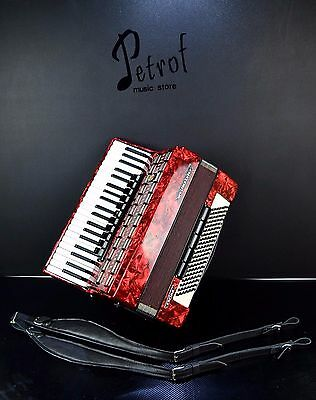 GERMAN TOP ACCORDION WELTMEISTER SERINO 120 bass, 16 registers+BRAND NEW STRAPS!