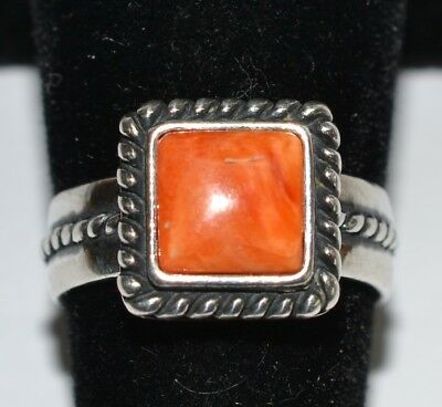 Carolyn Pollack - Relios Coral .925 Sterling Silver Ring Size 6