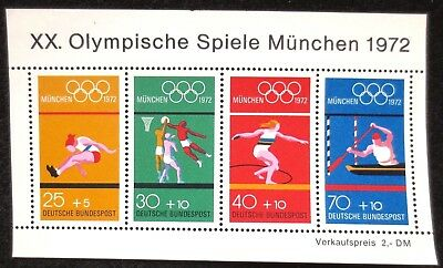 Germany (West) - 1972 - Olympic Games - SG MS 1633 - MNH