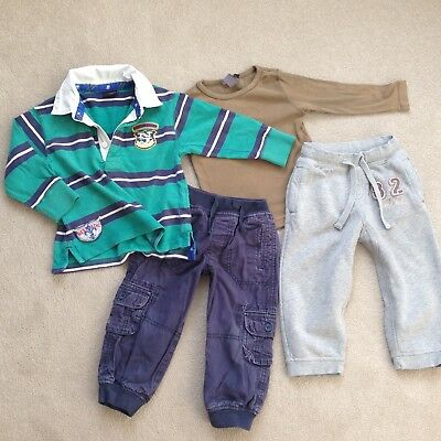 Boys bundle 18-24 months 1/2-2 years Next Miniclub rugby shirt, lined joggers