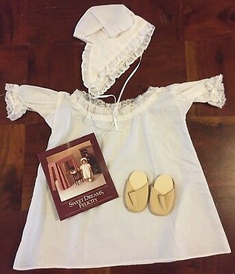 American Girl Pleasant Company Felicity Night Gown Sweet Dreams Set Retired