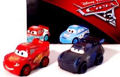 Disney Pixar CARS 3 MINI RACERS X2 LIGHTNING McQUEEN + JACKSON STORM  Brand New