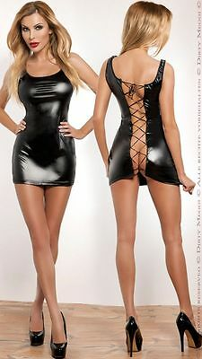 Minikleid Wetlook Kleid  GOGO Clubwear PARTY  Größe S-M 36-38