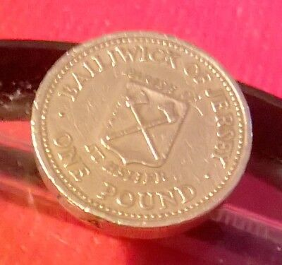 1983 JERSEY St HELIER ONE POUND COIN