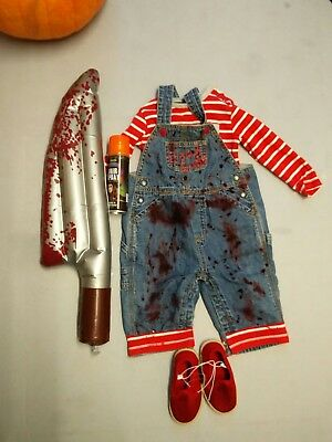 Chucky Childs Play Horror Complete Baby Boys Costume 6-12 Mth Months Halloween