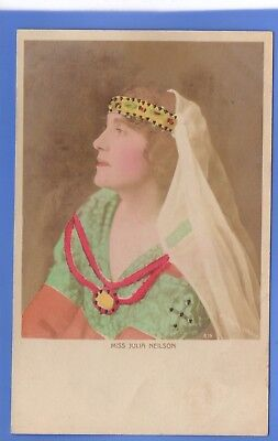 Old Vintage Postcard Edwardian Actress Miss Julia Neilson