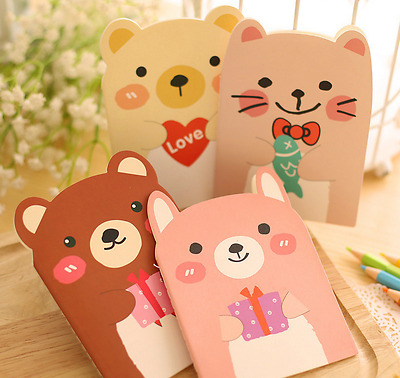 1Pcs Cute Animal Shape Post It Sticky Notes Sticker Marker Memo Notepad Gifts *